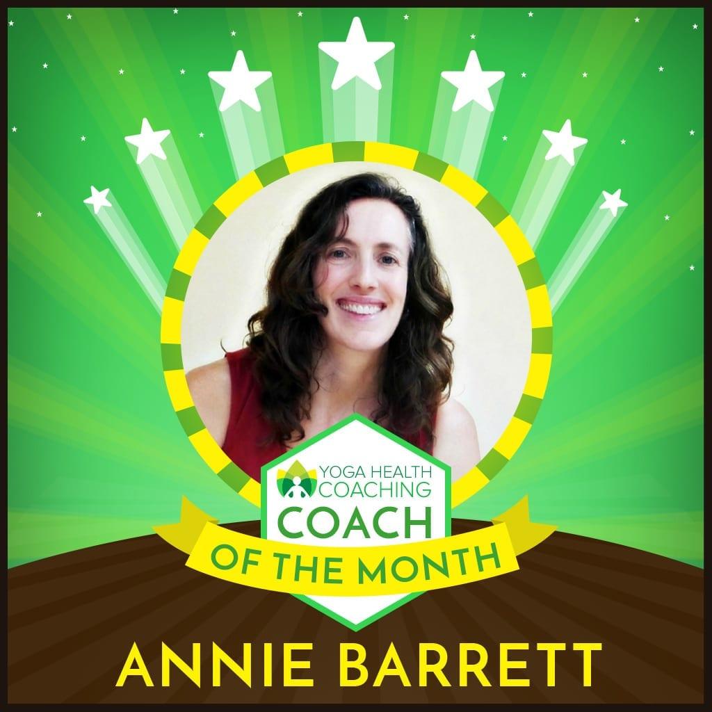 Coach of the Month-Annie Barrett